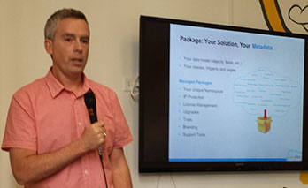 "John Henning, Salesforce ISV Evangelist, explains AppExchange at Denver ""All Things Cloud"" meetup"